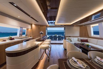 Luxury or crewed catamaran