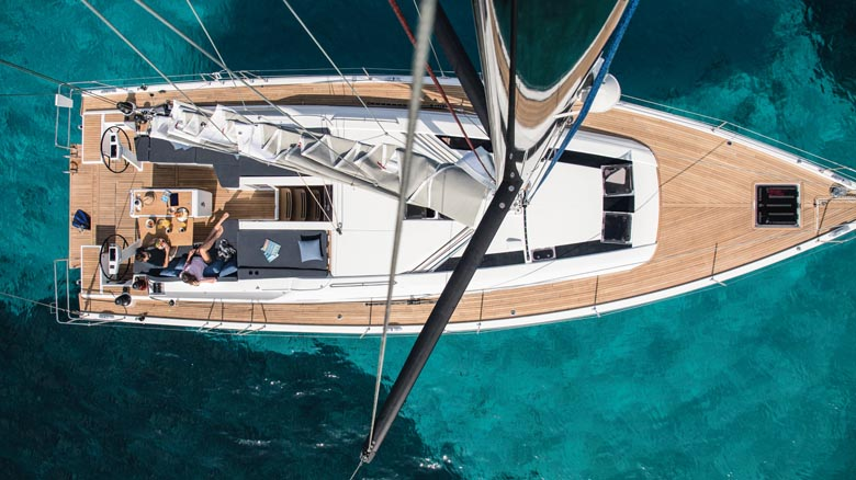 Monohull sailing yacht charter sailing in Turkey